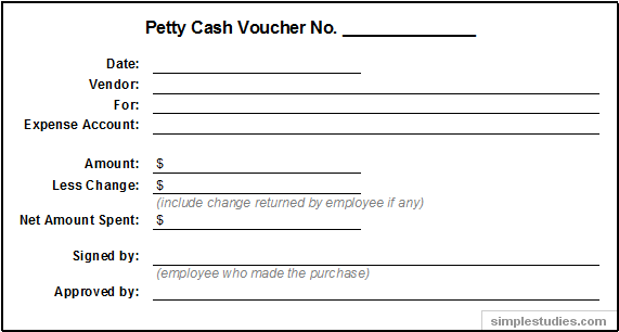 PettyCashVoucherExamplePng  Auditing    Cash