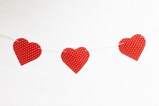 Free Printable Mini Heart Garland Template