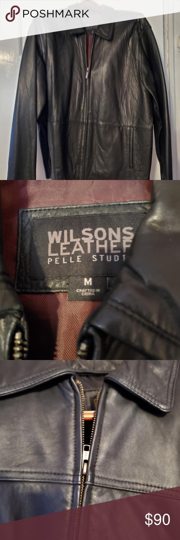 Wilson Leather Pelle Studio Men's M Leather Jacket Wilson