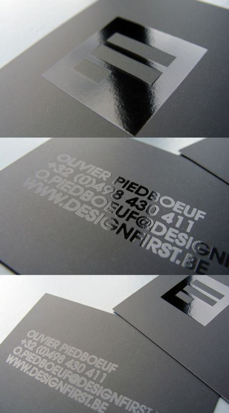 10 creative and unique business card designs pinterest an all caps card with glossy ink on matte paper minimalist and elegant created by design first an agency from belgium colourmoves