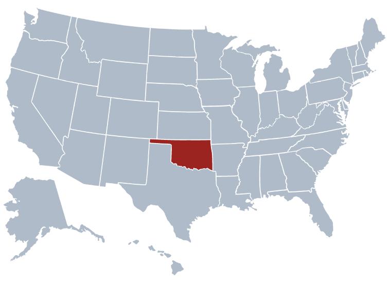Where Is Oklahoma Location Of Oklahoma Oklahoma Ipl Stately - Oklahoma on a us map