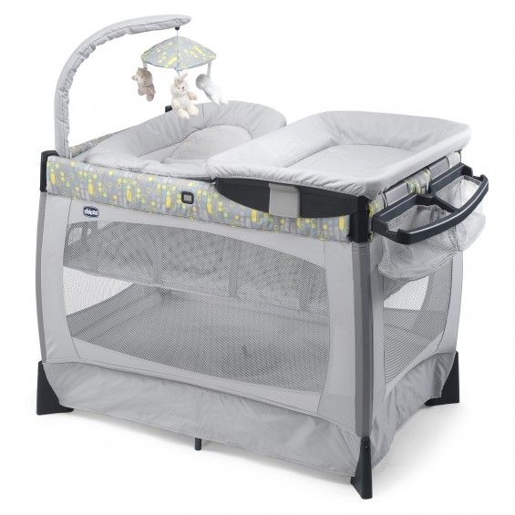 lit parc lullaby baby playard silver chicco - Lit Chicco