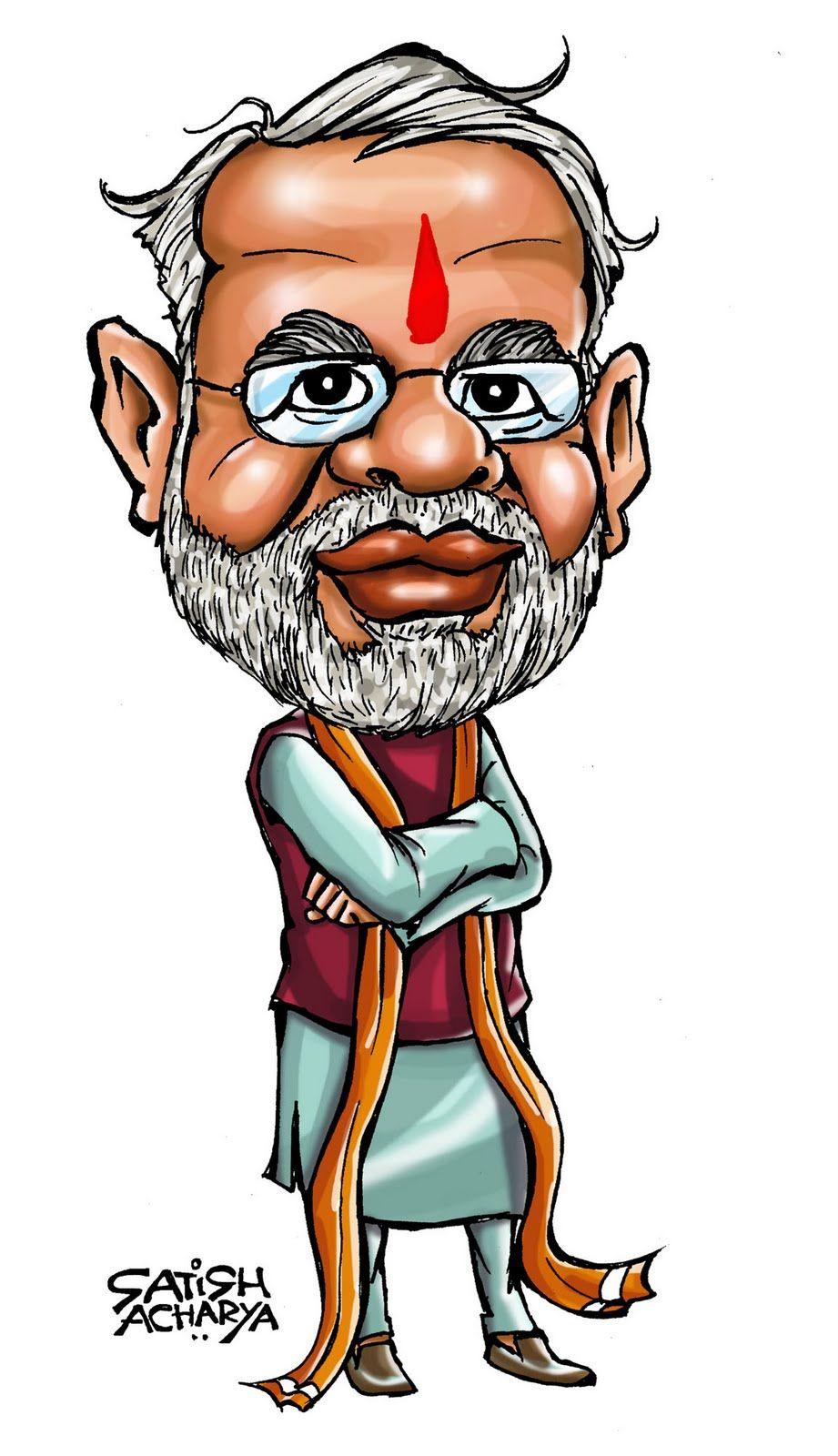 Narendra Modi Funny Cartoon Photos : narendra, funny, cartoon, photos, MYusuf, Advani, Caricatures, Politicians, Funny, Cartoon, Characters,, Caricature, Sketch,, Character, Tattoos