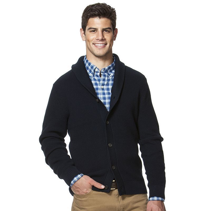 b84315b245 Big   Tall Chaps Classic-Fit Shawl-Collar Cardigan