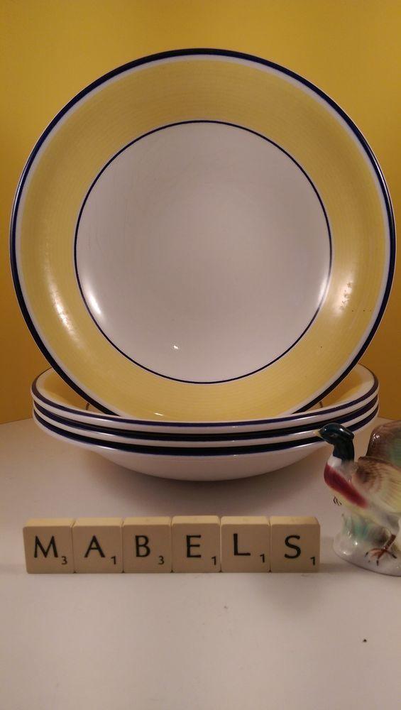 STAFFORSHIRE TABLEWARE ~AVANTI~ cereal bowls x 4   Mabel\'s Tableware ...