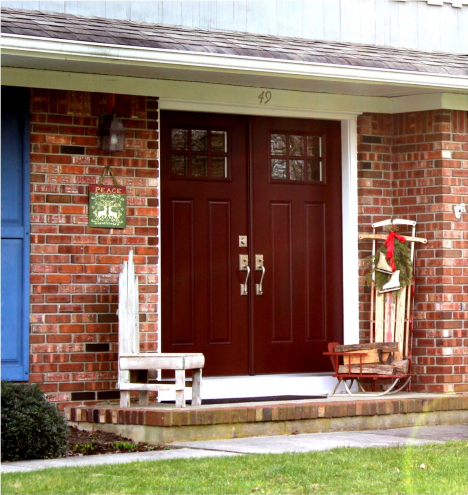 possible front door, color goes well with the brick and like the