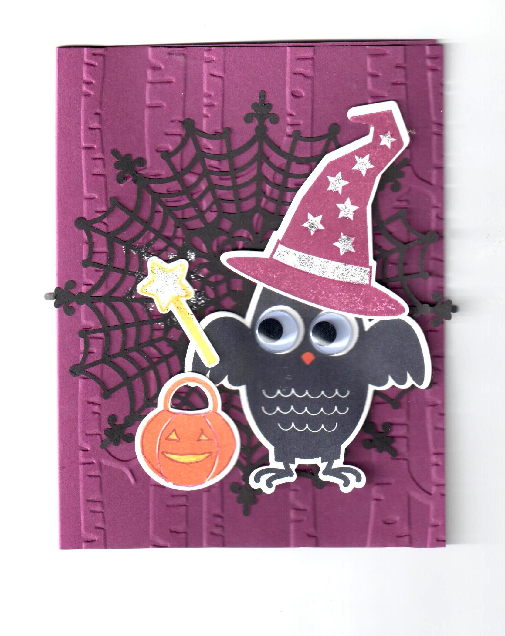 stampin' up! howl-o-ween treat stamp set, boo to you framelit dies