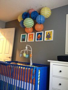 Like This Grey Wall With The Bright Colours Hudson S Monster Themed Bedroom Www Pinsandpetals