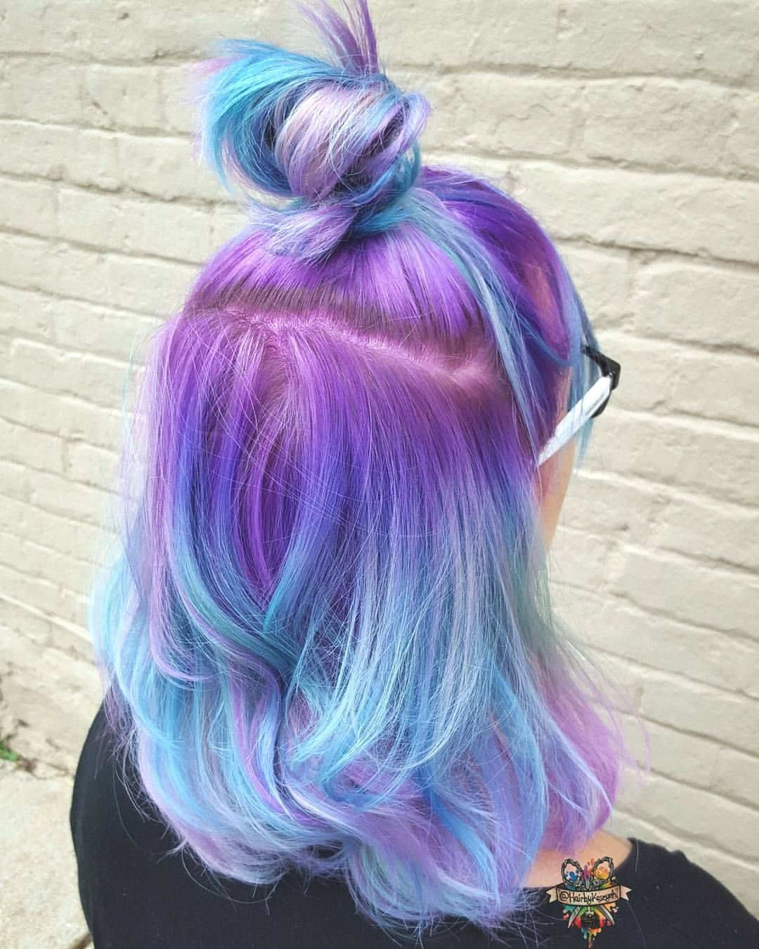 Hottest Ideas Of Mermaid Hair Color In 2020 Mermaid Hair Color Hair Styles Purple Ombre Hair