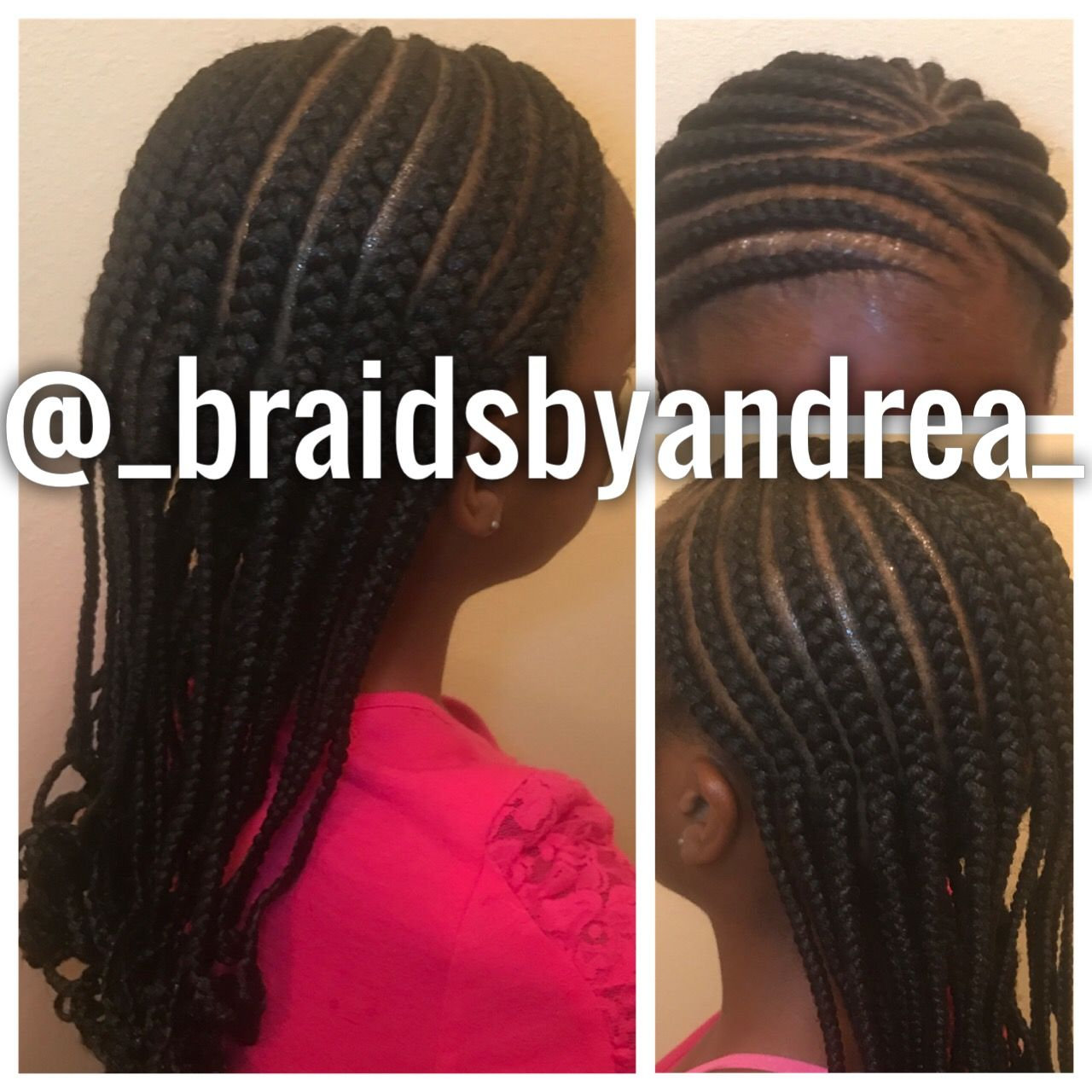 simple kids braid style, 2 layers, curled   little girls in