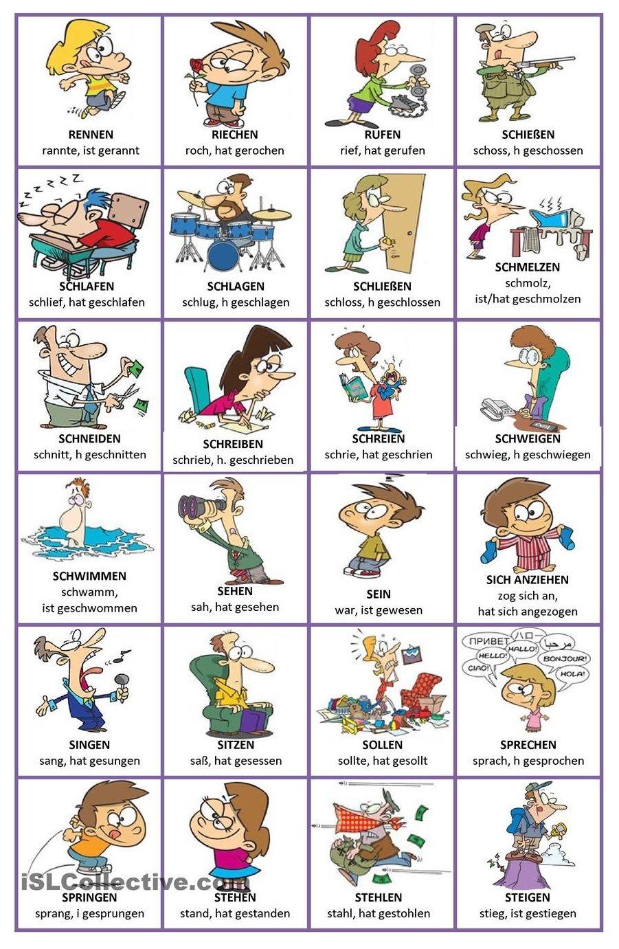 Unregelmäßige Verben (3) Langue allemande, Apprendre l