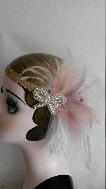 26.99$  Watch now - http://virvk.justgood.pw/vig/item.php?t=1nizkv31510 - Roaring 20s, art deco, summer wedding, great gatsby, headddress, headpiece, head