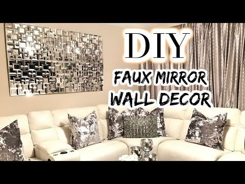 Diy Quot Z Gallerie Axis Mirror Quot Inspired Glam Wall Decor Using Dollar Tree Items Youtube Glam Wall Decor Diy Mirror Wall Decor Wall Decor Bedroom