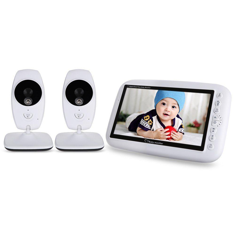 Babyphone /Écran LCD 2.4 HD Baby Monitor Audio Bidirectionnel Cam/éra Ecoute B/éb/é,Vid/éo Surveillance