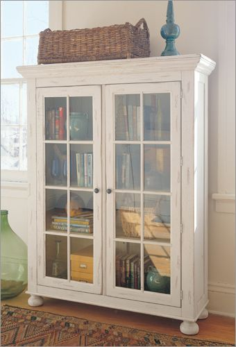 Broyhill Attic Heirlooms + White + Glass | Buy Broyhill Attic Heirlooms Library  Cabinet (Broyhill Bookcases .