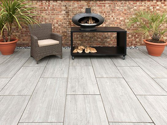 Wood Grain Effect Porcelain Paving From Rowebb Patio