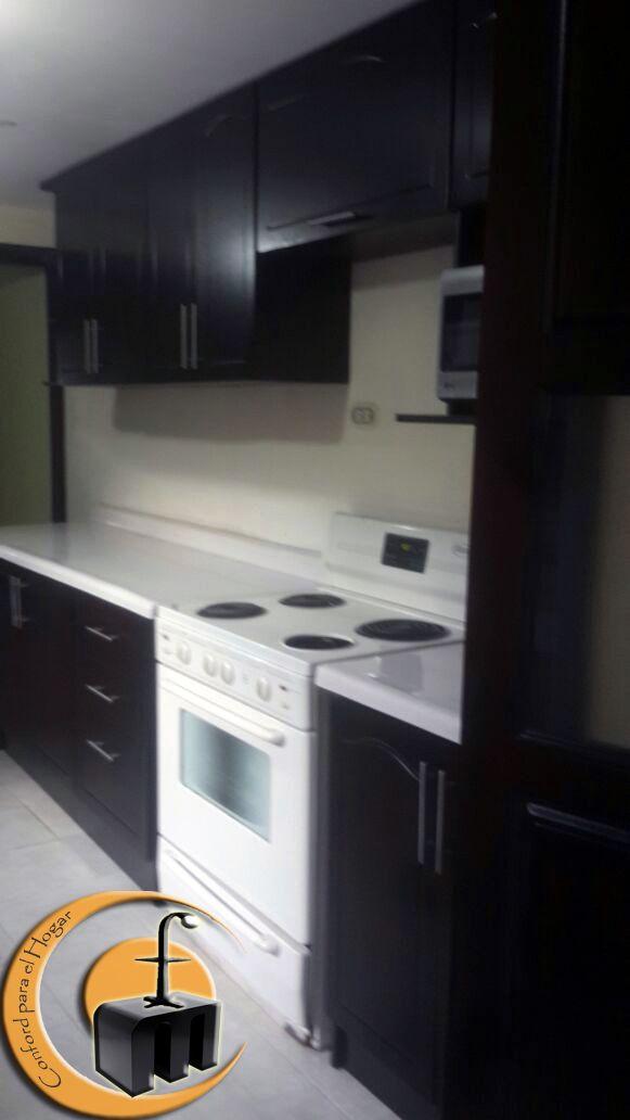 Mueble Cocina Estructura melamina con las puertas con dibujo en MDF ...