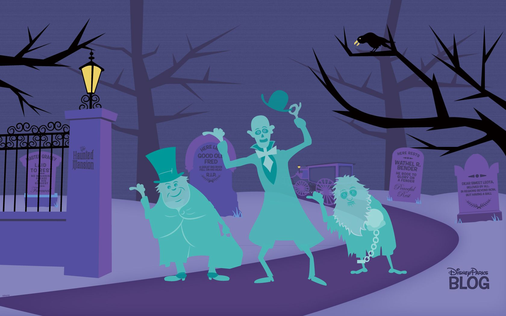 The Original Wallpaper For Your Computer And Versions For Your Tablet And Phone Can Be F Halloween Desktop Wallpaper Haunted Mansion Wallpaper Disney Wallpaper