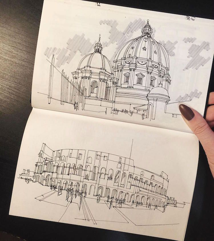 Architecture Student Revives the Magic of Architectural Hand Sketching Through These Marvelous Sketches - Arch2O.com