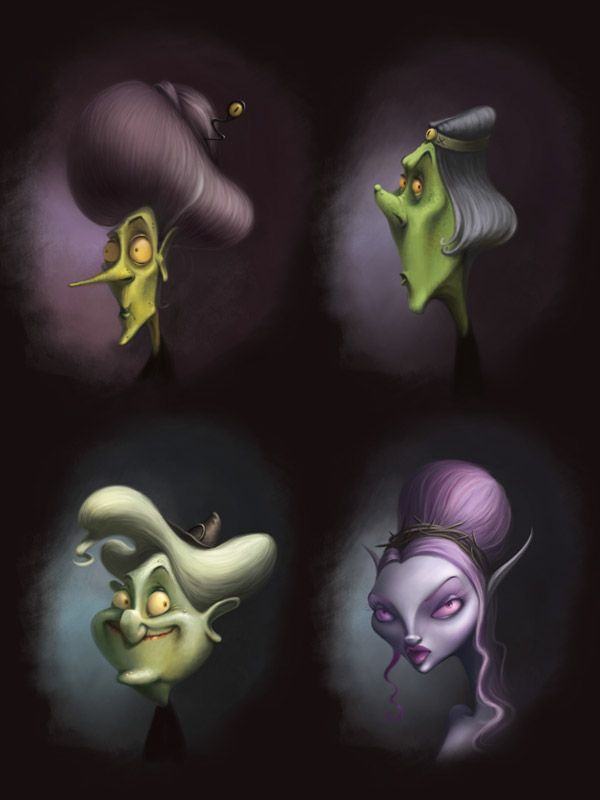 Halloween characters on Character Design Served