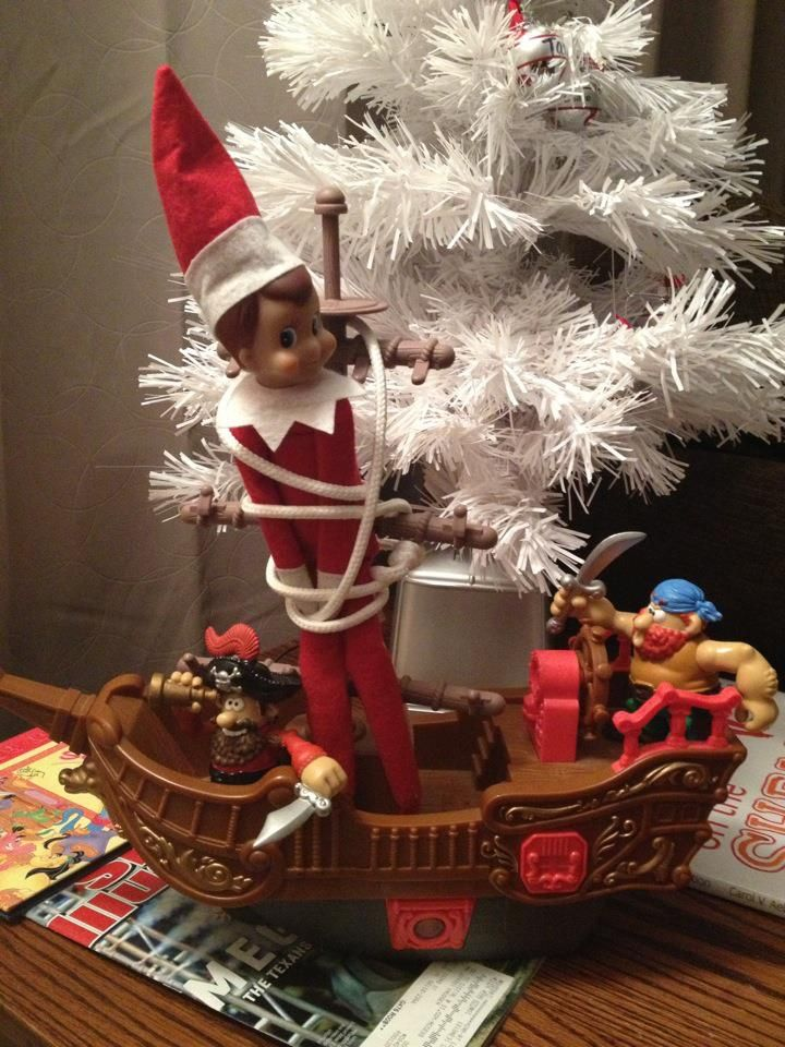 Elf on a shelf: This elf messed with the wrong set of pirates!