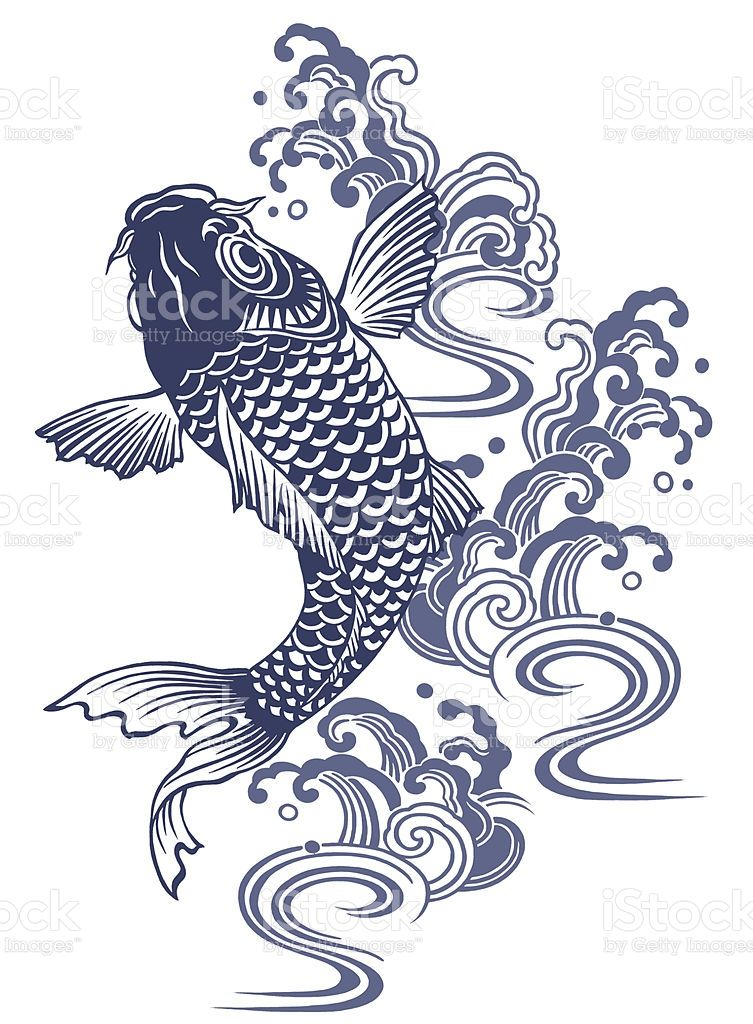 I described a carp in Japanese atmosphere of a picture,