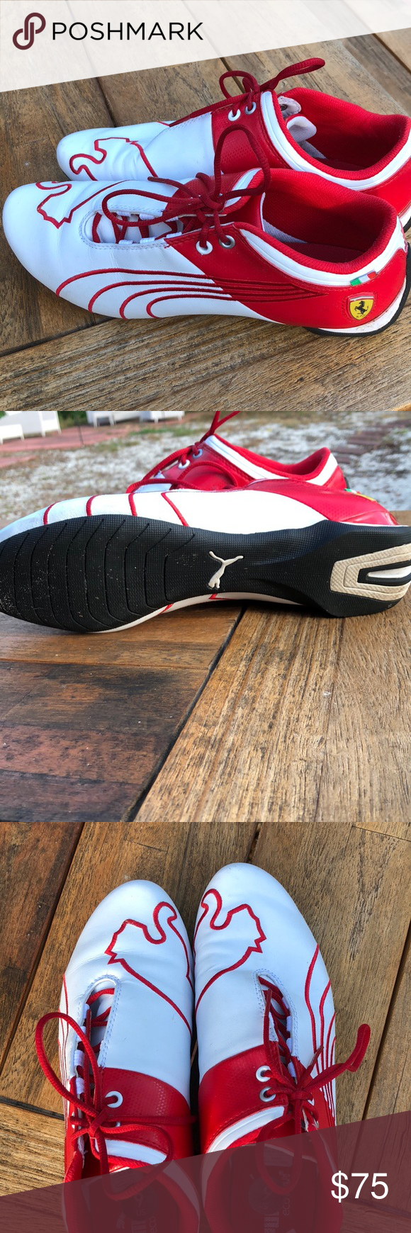 e6d37769305463 Puma Ferrari shoes These are brand new pumas never worn they have a puma on  the