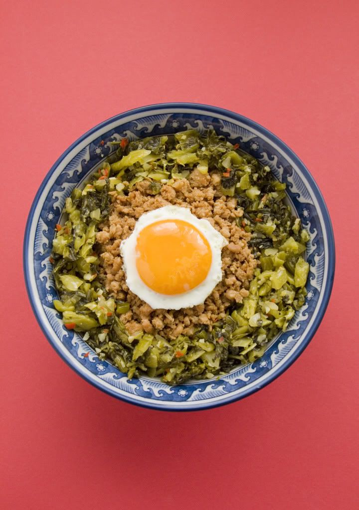 Food makes me happy soboro don with chinese pickled mustard green food makes me happy soboro don with chinese pickled mustard green and sunny side up forumfinder Images