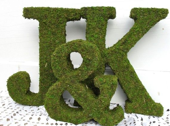 Moss Covered Letters Moss Covered Wedding Monograms  Moss Covered Letters Head Tables