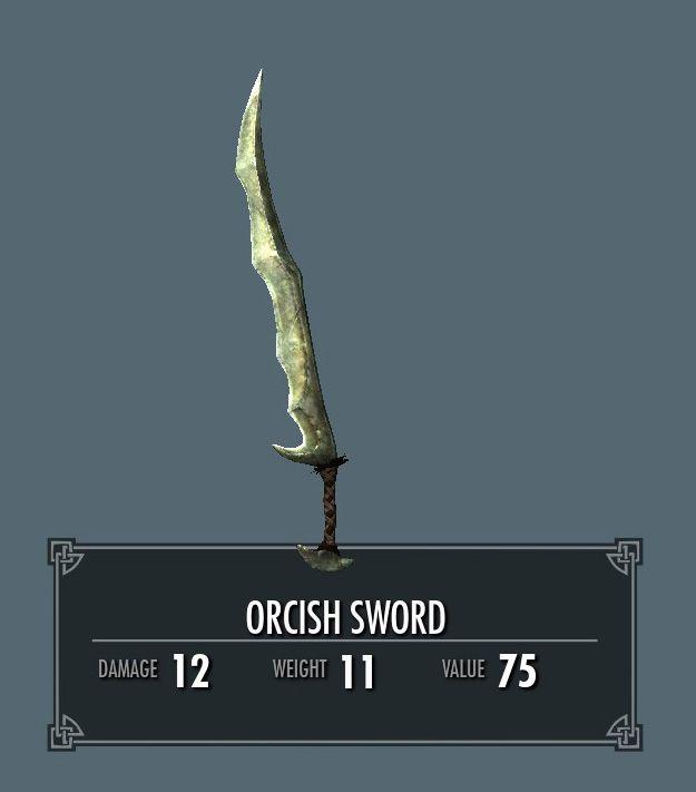 Orcish sword skyrim Skyrim Skyrim, Sword, Elder scrolls