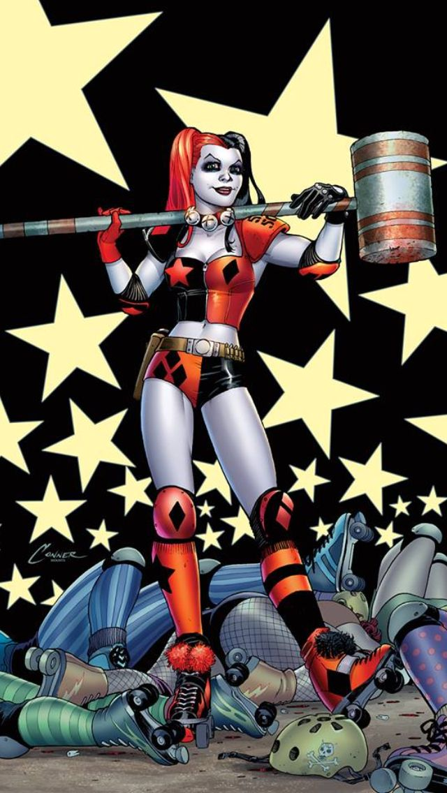 Gotham Girls Derby Wallpaper New 52 Harley Quinn Hell Yeah Roller Derby Ftw
