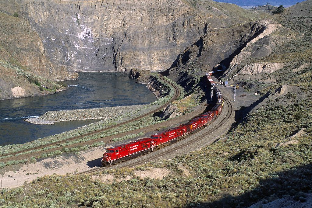 Summer morning in Black Canyon in 2020 Canadian pacific