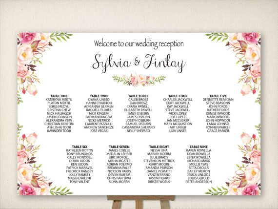 Wedding Seating Chart, Table Seating Plan, Wedding Sign, Find Your