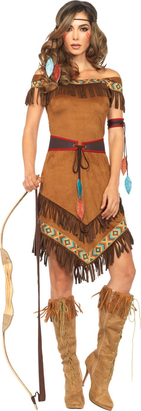 Adult Native American Princess Costume - Party City  sc 1 st  Pinterest & Adult Native American Princess Costume - Party City | Hair ...