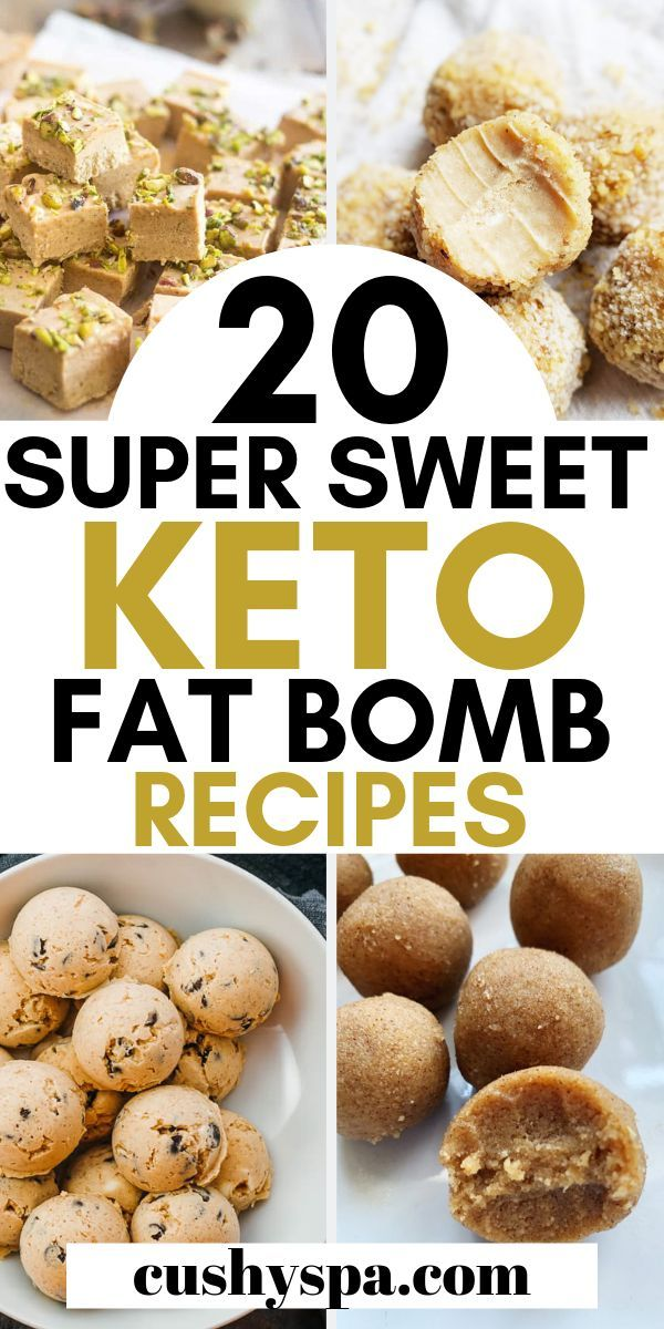 20 Delicious Sweet Keto Fat Bomb Recipes #ketodessert