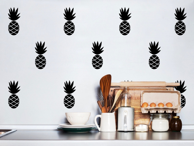 Pegatinas de pared de piñas #DaWanda #diseño #handmade #hechoamano