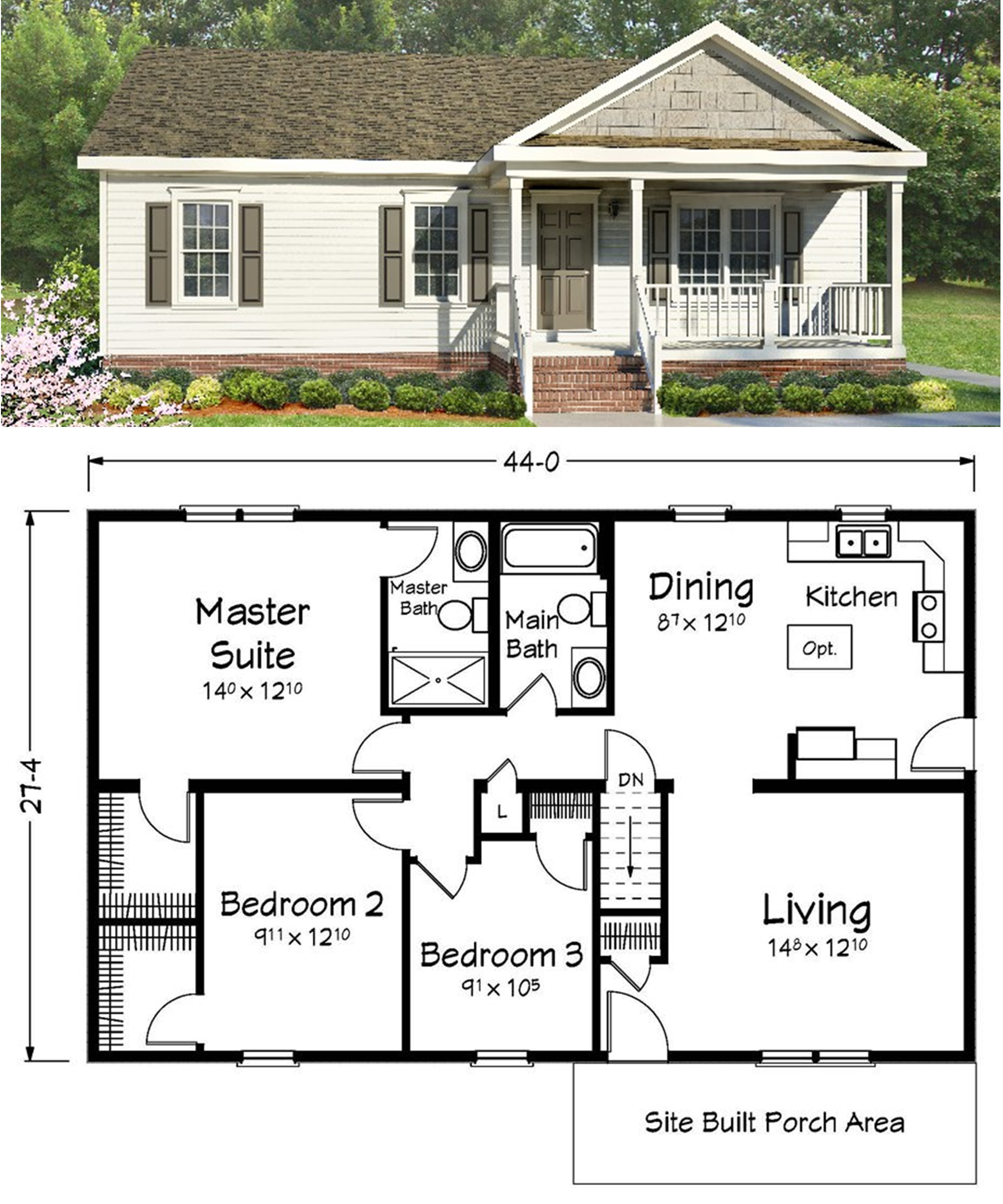 We have hundreds of floor plans available for customization. | Ranch ...