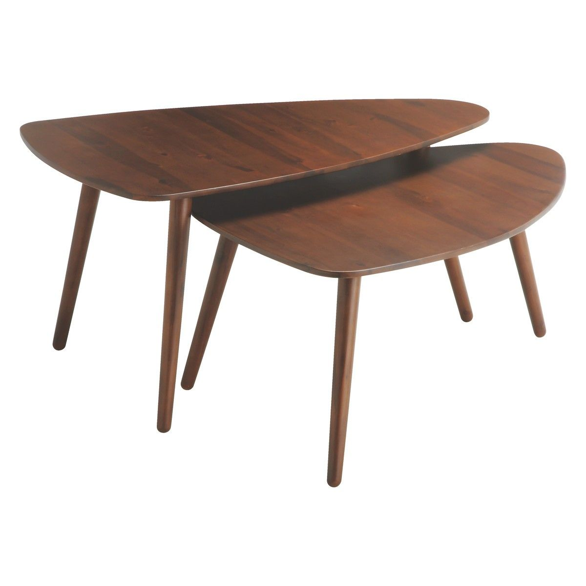 Joyce Large Acacia Coffee Table Coffee Table Habitat Retro
