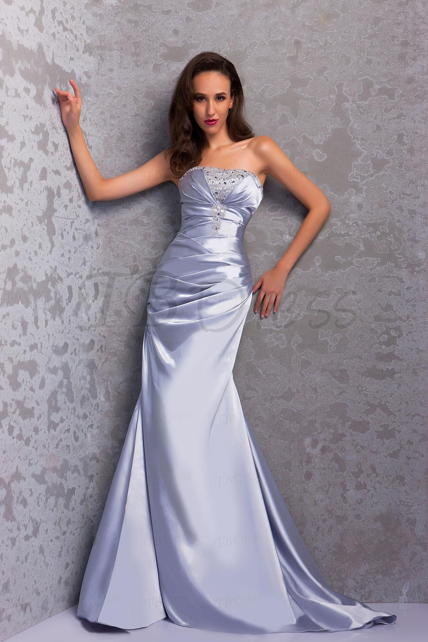 Floor-Length Strapless Mermaid Renata's Evening Dress
