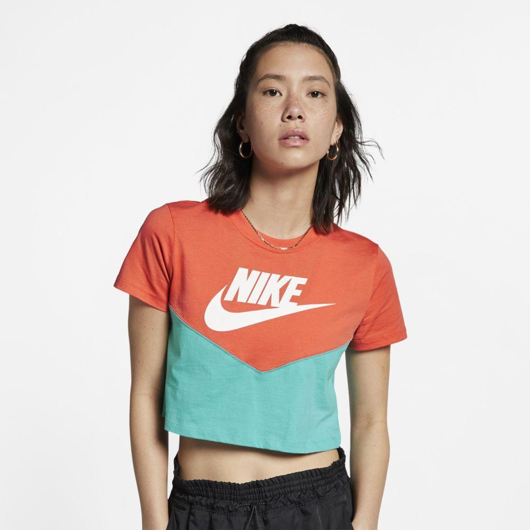 Nike Sportswear Heritage Women S Short Sleeve Top Cabana Womens Shorts Short Sleeves Tops Nike Sportswear [ 1080 x 1080 Pixel ]