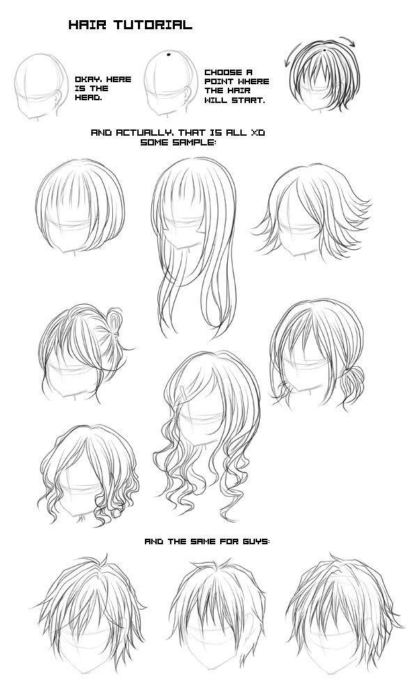 types of anime hair - google