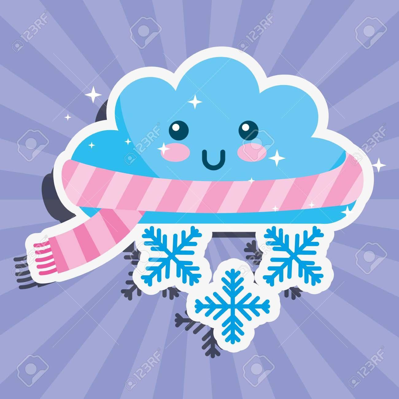 20+ Cute Snowy Cloud Clipart