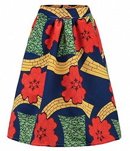 Damen Röcke Frühling Sommer Chic Mädchen Fashion Strandrock Sommerrock Afrikanische Druck Röcke Für Frauen Boho Plus Flare Pleated Röcke
