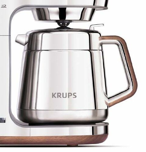 Krups Kt600 Silver Art Collection Thermal Carafe Coffee Maker With Chrome Stainless