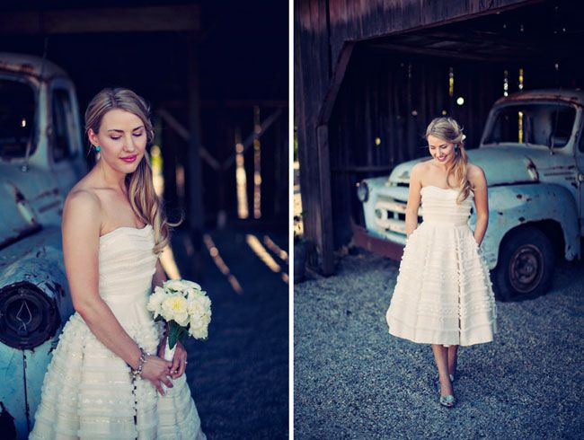 Barn wedding dress styles