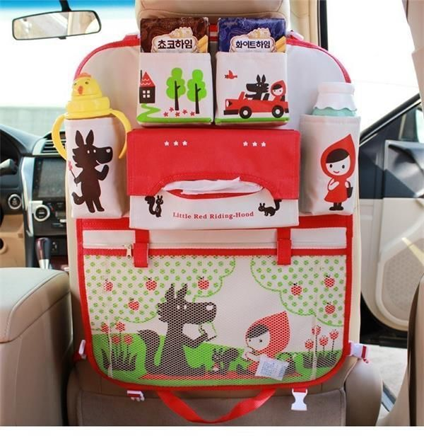 Universal Baby Car Hanging Basket Storage Bag Car Seat Back Organizer With Tablet Holder Travel Storage Bagstroller Accessories Strollers Accessories Activity & Gear