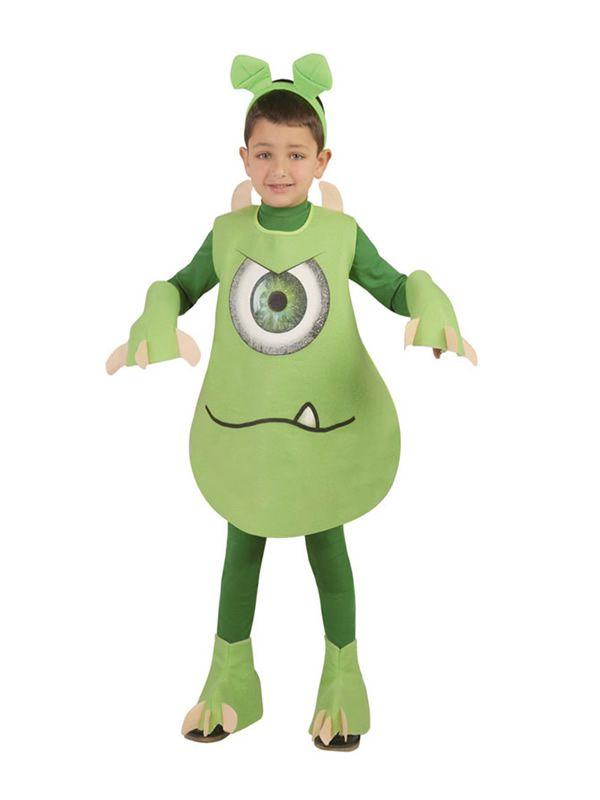 9e6acb134 El disfraz de monstruo verde niño, incluye Traje, manos y pies en ...