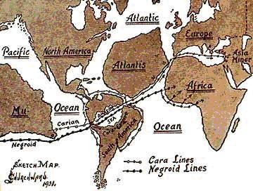 El Jardín Del Edén Estaba En El Continente Perdido De Mu Mapas Antiguos La Atlantida Misterios Antiguos