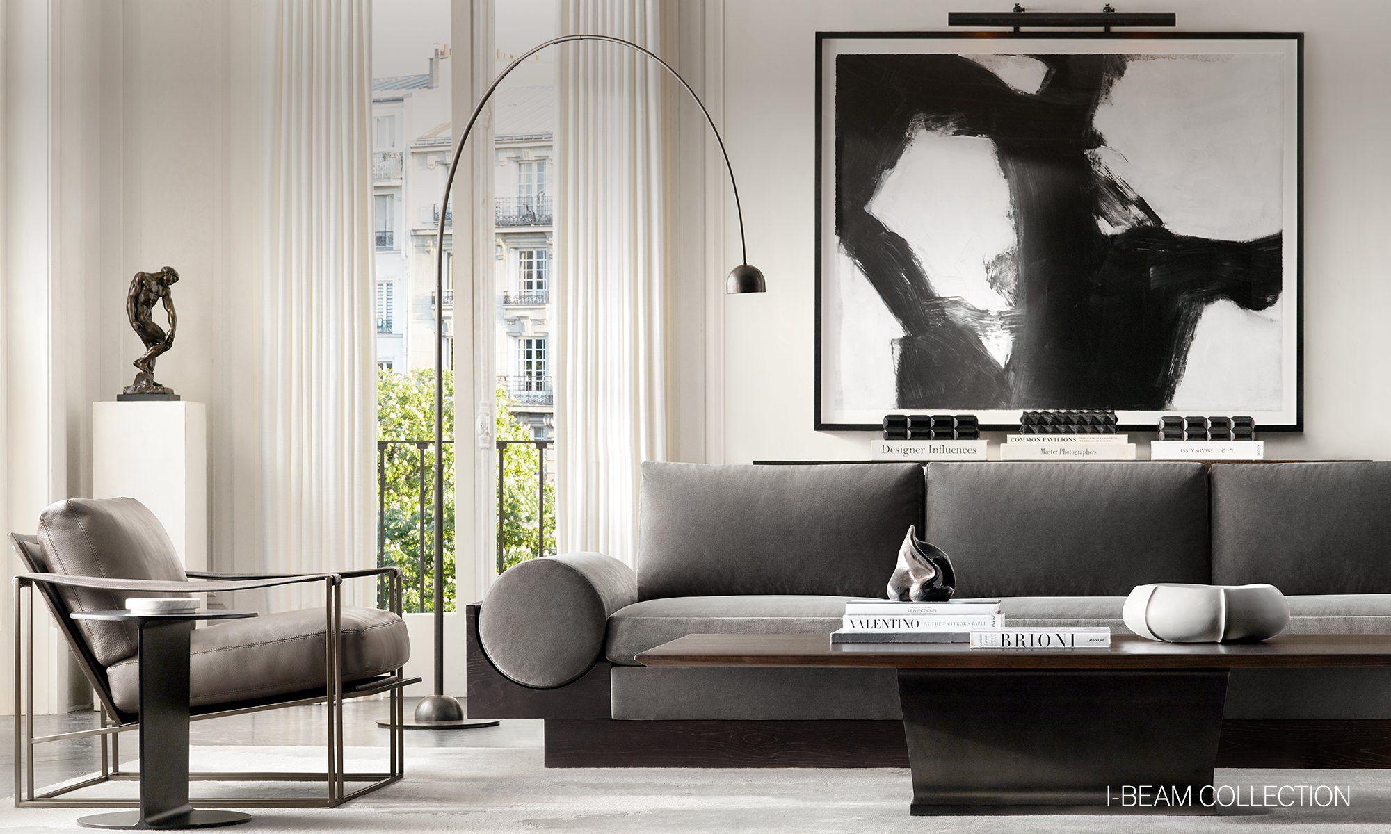 rh modern homepage  rh modern luxury living room rh