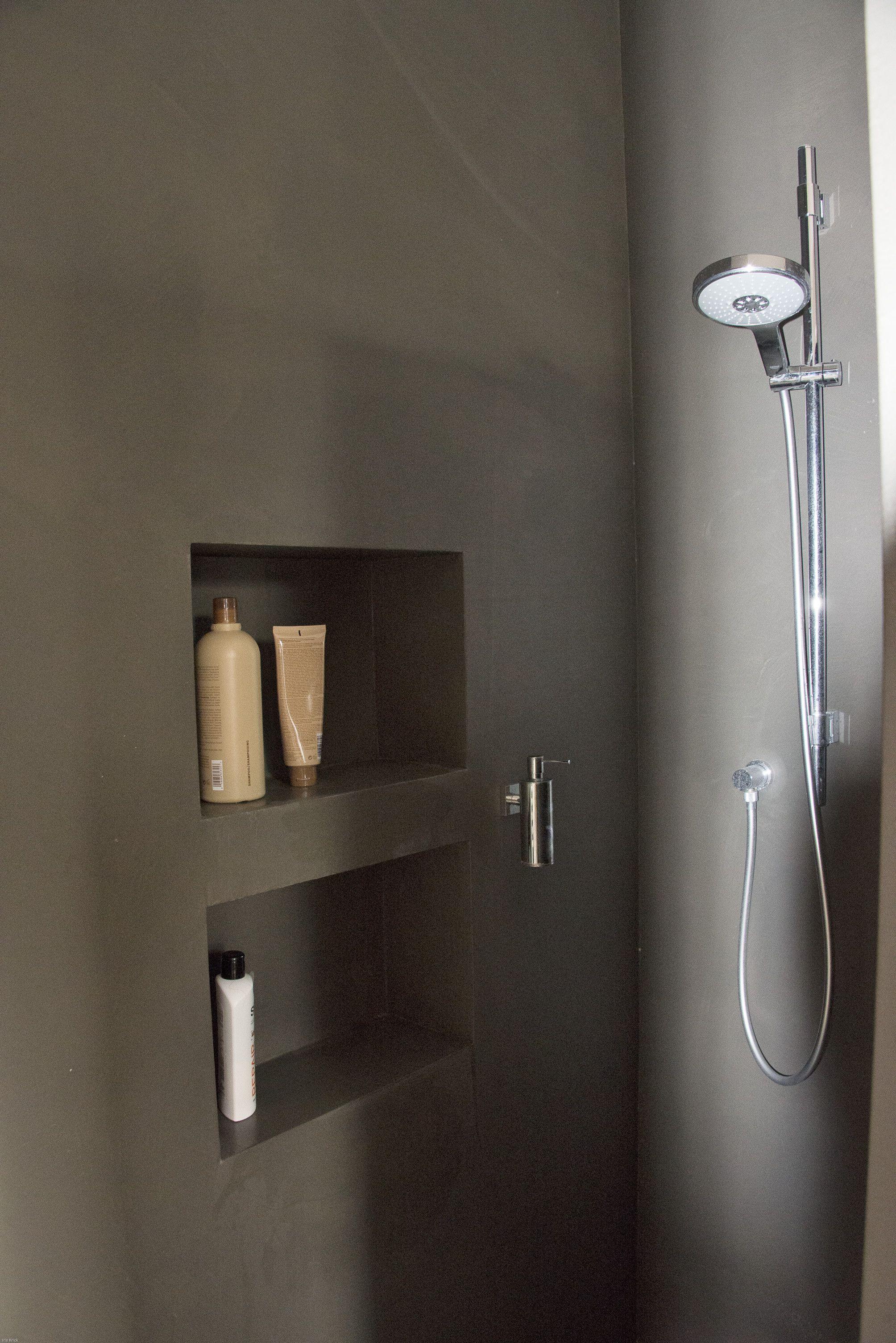 Fugenlose Dusche mit Nischen  Bathroom  Ideen Bad